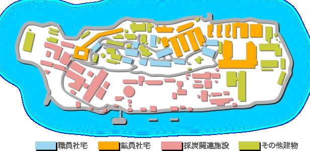 軍艦島MAP