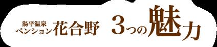 湯平温泉 ペンション花合野 3つの魅力