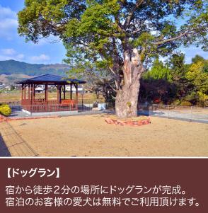 【ドッグラン】宿から徒歩2分の場所にドッグランが完成!